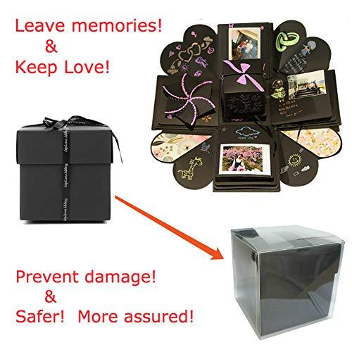 Montaggio Spartas Store Esplosione Box Scrapbook Creative DIY Photo Album Esplosione Box Foto,Album Fotografico Fai da Te Album Fotografico Creativo Regali di Compleanno!