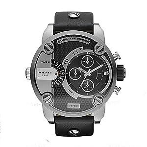 Diesel DZ7256 Little Daddy Reloj cronógrafo, negro/plateado