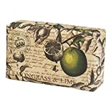 Kew Gardens Seifemit Vintage-Verpackung –Badseife mit luxuriösem Duft–Lemongrass & Lime, 240g