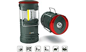 EMPO Premium LED Camping Lantern Portable Flashlight for Outdoor - Ultra Bright, Durable, Lightweight, Fully Collapsible-Magnetic Base, Torch, Beacon - Water Resistant