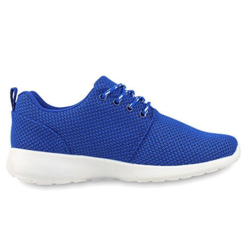 Napoli Fashion Ladies Scarpe Sportive Running Battistrada Suola Jennika Blu