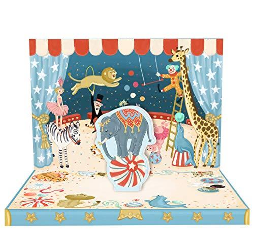 Circus Adventure Music Box Karte (Boxen Karten)