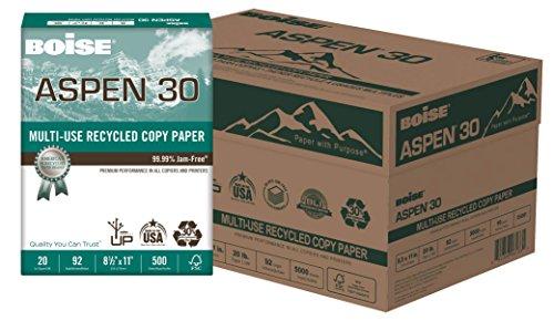 Boise Aspen 30% recycelte 81/5,1x 27,9cm 20LB weiß Office Paper 5.000Zählen (054901)