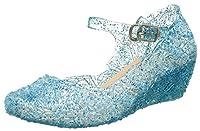 Scintillante ragazze scarpe blu con motivi floreali.  Realizzato in plastica di alta qualità.  Altezza tacco: 3,5 - 4,0 cm.  Morbido e comodo da indossare.  Adatto da indossare con altri abiti e costumi Partito vestito in tutte le occasioni. ...