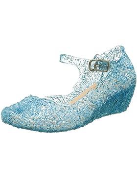 Prinzessin Elsa Cinderella Absatz-Schuhe Blau Kinder Glanz Weihnachten Verkleidung Karneval Party Halloween Fest