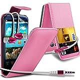 ( Baby Pink ) Samsung Galaxy S3 I9300 Premium Stylish Protective Faux Kredit / Debit-Karten-Slot Leder Flip Case Hülle & LCD-Display Schutzfolie by Spyrox