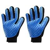 Generic 2pcs-Right hand Haustier-Reinigungs-Bürsten-magischer Handschuh, Blau (2-er Pack)