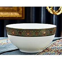 Liuyu Cocina Inicio Vajilla de porcelana de hueso creativa Tazón de fuente de gran tazón de fuente de Bowl de 8 pulgadas Tazón de fuente de sopa de la sopa Tazas de microondas