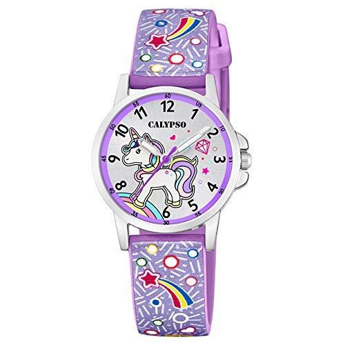 Hora & Minutos–Reloj niña–Pulsera Violet–Reloj Unicornio–Arco en Cielo