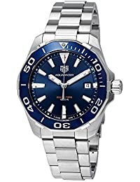 TAG Heuer Men's Steel Bracelet & Case Sapphire Crystal Swiss Quartz Blue Dial Analog Watch WAY111C.BA0928