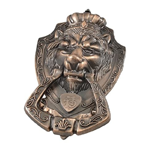Copper Tone Lion Head Drawer Cabinet Door Pull Handle Knob