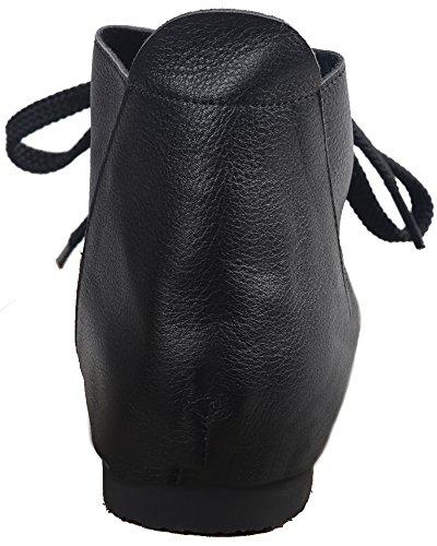 WGWJM , Chaussures de ville à lacets pour femme Noir