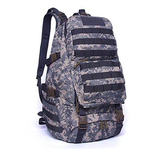 Rucksack Outdoor bergsteigen Beutel wasserdichte Reisen Double Shoulder Bag camouflage ride Tasche 49 * 34 * 20 cm, Wüste digital, 36-55 Liter Wüste Digital