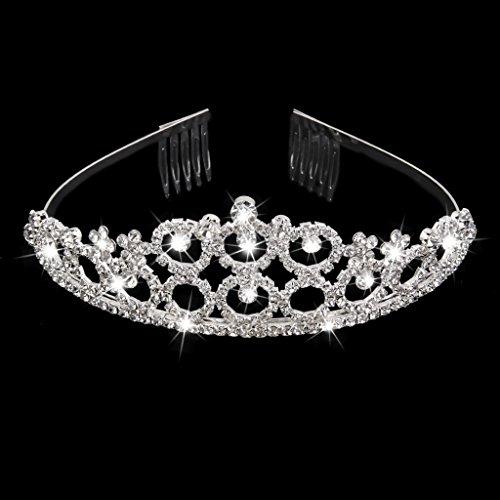 Boda Rhinestone Cristalino Nupcial Pasador Diadema Corona Tiara Pinza De Pelo Broche