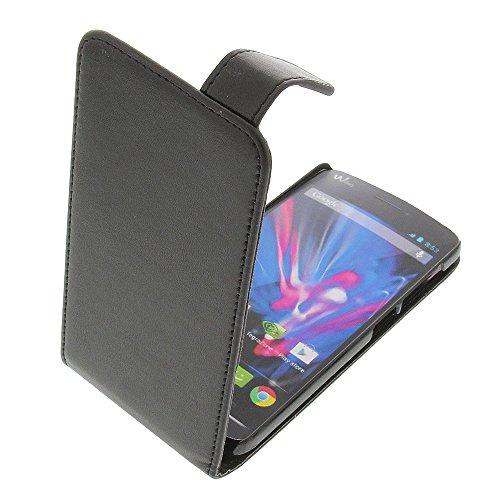 foto-kontor Tasche für Wiko Wax Wax 4G Flipstyle Schutz Hülle schwarz