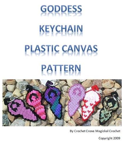 Plastic Canvas Goddess Keychain Pattern