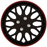 4 pezzi 15 pollici per ruote in acciaio Coprimozzo Energy Adatto a tutti gli standard Nero RAU 560.28 Copri Cerchio
