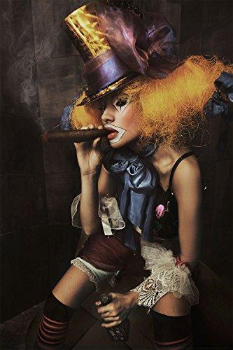 Postereck - 0444 - Weiblicher Clown - Poster 3:2-61.0 cm x 40.5 cm