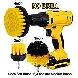 Oxoxo drill Brush–morbido e spazzolone di perforazione di potenza media per pulizia doccia vasca bagno piastrelle tires barche tappeti