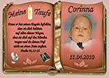 Tortenaufleger Fototorte Tortenbild Zuckerpapier Taufe Buchform DIN A5 T27