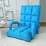 VIVOCC Verstellbar Falten Faulen Stock Stuhl, Sofa chaiselongue Liege Bett Mit armlehnen Kissen Gaming-Couch Mit rückenstütze-A 135x58x16cm(53x23x6inch)