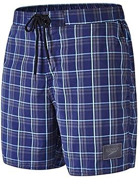 Speedo Yd Check - Pantalones cortos causales para el agua (bañador), hombre, Yd Check Leisure, Grey/Navy, XXL