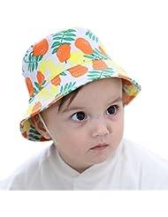 Leisial Niños Sombrero de Pescado Algodón Respirable Sombrero de Ala Gorras Sol Playa Protector Solar Verano para Bebés Azul