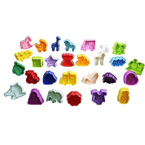 set-of-28-colourful-plastic-cake-decorating-plunger-cookie-fondant-embossing-cutters-by-kurtzy-tm