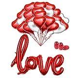 Juego de globos MMTX 34 Foil Globos rojos de helio Conjunto Globos de 18 pulgadas para el Día de...