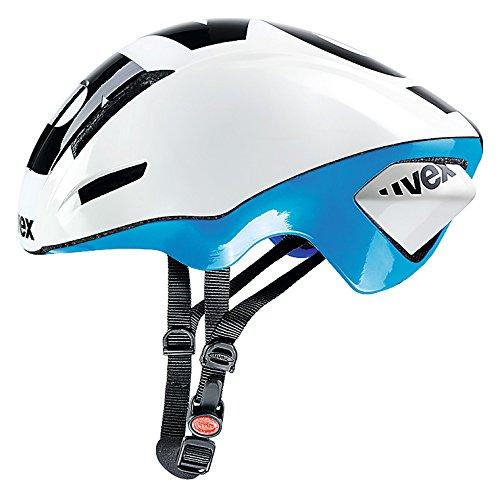 Uvex EDAero Rennrad Fahrrad Helm weiß/blau 2015: Größe: 53-57cm