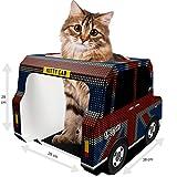 Cat Toys und Pappe Katzen House von Kitty Cab–GRATIS Kratzbaum Pad, Maus & Feder Pet, Bonus Ebook–Ideal für ein Häschen, Kätzchen, Kaninchen, Meerschweinchen, Frettchen, Ratten, Hamster–British Union Jack