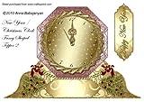 Año nuevo/Navidad reloj Fancy con forma de Topper 2por Anna Babajanyan