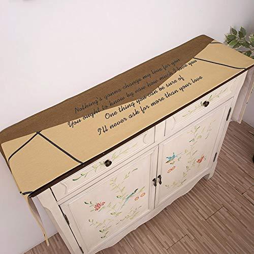 MMD Tischläufer-einfaches und modernes neues Speisetische-Landhaus drucken (Color : Yellow, Size : 30 * 140cm)