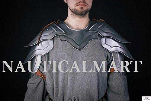 Stahl Knight Pauldron Mittelalter Schulter Armor LARP Paar Halloween-Kostüm