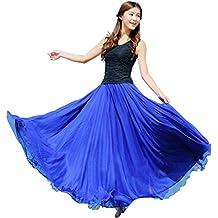 Amlaiworld Donne Chiffon Long Beach Dress con elastico