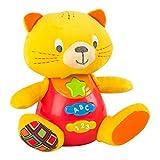 Winfun - Peluche Gato para bebés que habla & luces de colores - Idioma: español (ColorBaby 85176)