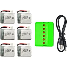 X8TW X8T RC Quadcopter Drone Spare Parts, 6pcs 3.7V 650mah Battery And 1 to 6 USB Battery Charger
