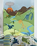 Catherine Lansfield Kids - Coperta per letto dei bambini, motivo: dinosauri, mehrfarbig, Wall Art