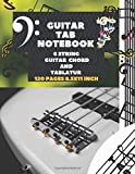 Guitar Tab Notebook 6 String  Guitar  Chord and Tablatur (120 pages) 8.5x11 inch: Large Sheet Composition Song Writing Journal, Manuscript Paper ... kids teens men women to save songs and play