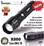 Lampes torches, Tonsee Militaire Lampe 5000LM G700 torche tactique LED X800 Zoom...