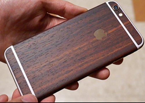 Kapa Full Body Wood Finish Vinyl Skin Sticker Cover for Apple iPhone 6 Plus / 6S Plus - Dark Mahogany Brown