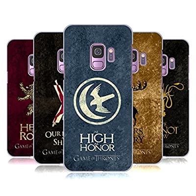 Official HBO Game Of Thrones Dark Distressed Sigils Hard Back Case for Samsung Phones 1