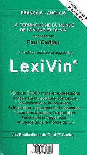 LexiVin/LexiWine 2012 par Paul Cadiau