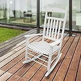 1PLUS Klassischer Schaukelstuhl aus Massivholz auch ideal zum Stillen in versch. Ausführungen (Creme, Sina)