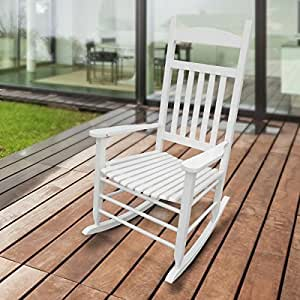 Classica sedia a dondolo in legno masselloper il comfort for Sedia a dondolo amazon