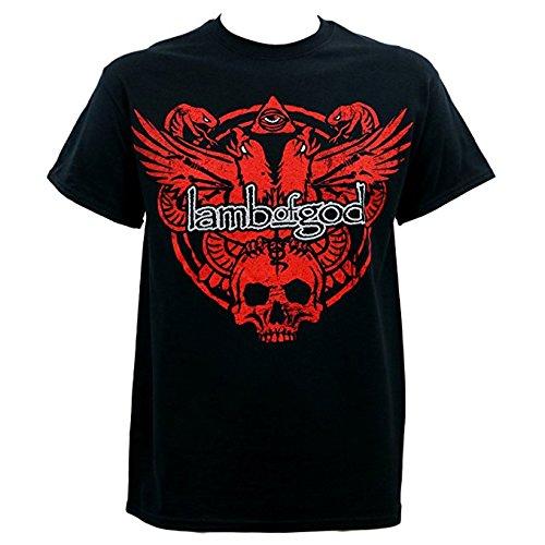 Lamb of God Snake and Eagle Uomo Black T-Shirt