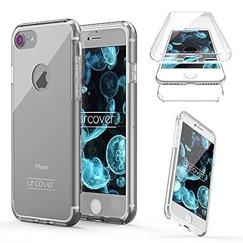 Apple iPhone 7 Housse Urcover [Nouvelle Version] Coque Tactile Apple iPhone 7 [Etui 360 Degrés] TPU Transparente Transparente Case Écran Integrale Tout Round