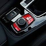 Voiture Multimédia Bouton Couvre Bouton Cadre Cadre Décors pour 1 2 3 Série F30 GT F34 4 Série F32 F33 F36 X1 F48 X3 F25, Rouge