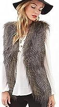 Malloom® mujeres recién llegadas chaleco sin mangas prendas vestir exteriores chaqueta de pelo largo