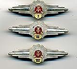 LAGERMAULWURF.de 3 stk Polizei Abzeichen Orden Qualispangen Polizeiabzeichen Uniform-zubehör